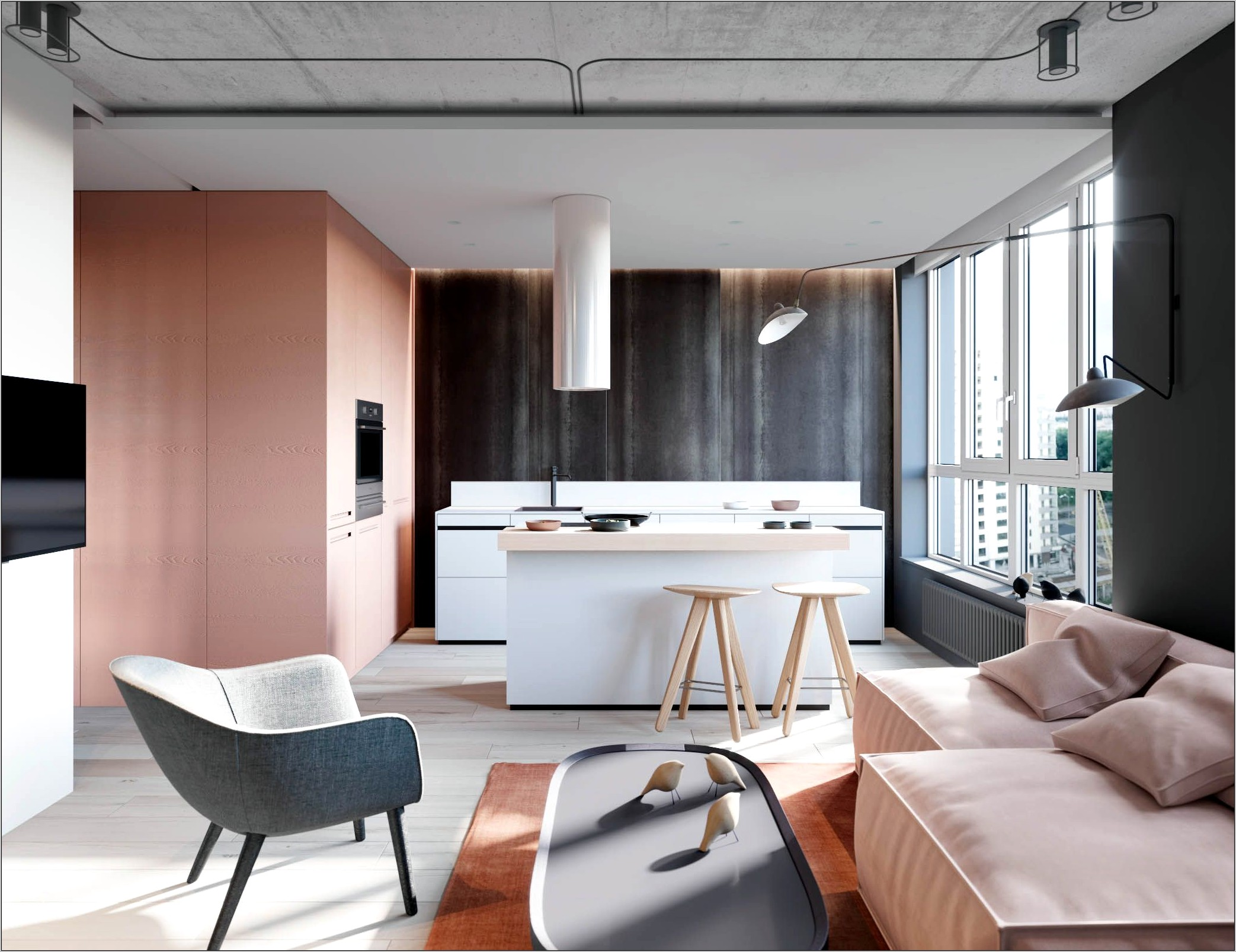Pink And Grey Kitchen Decor