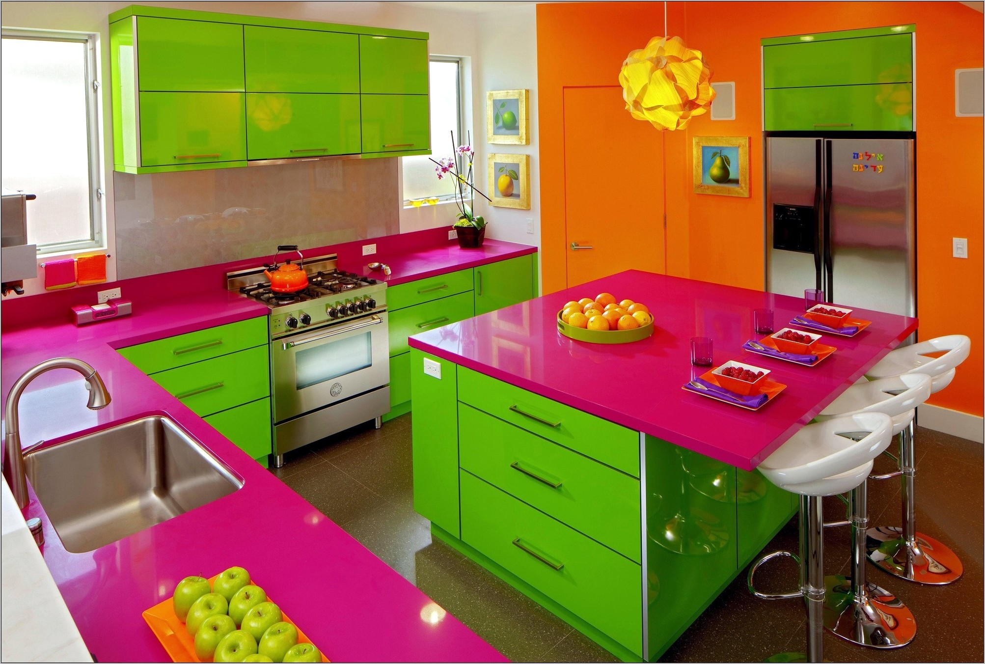 Pink Decor For Kitchen