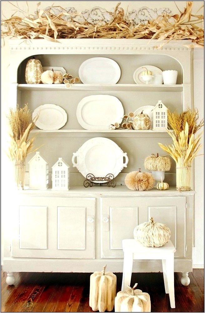 Primitive Country Kitchen Hutch Decorating Ideas