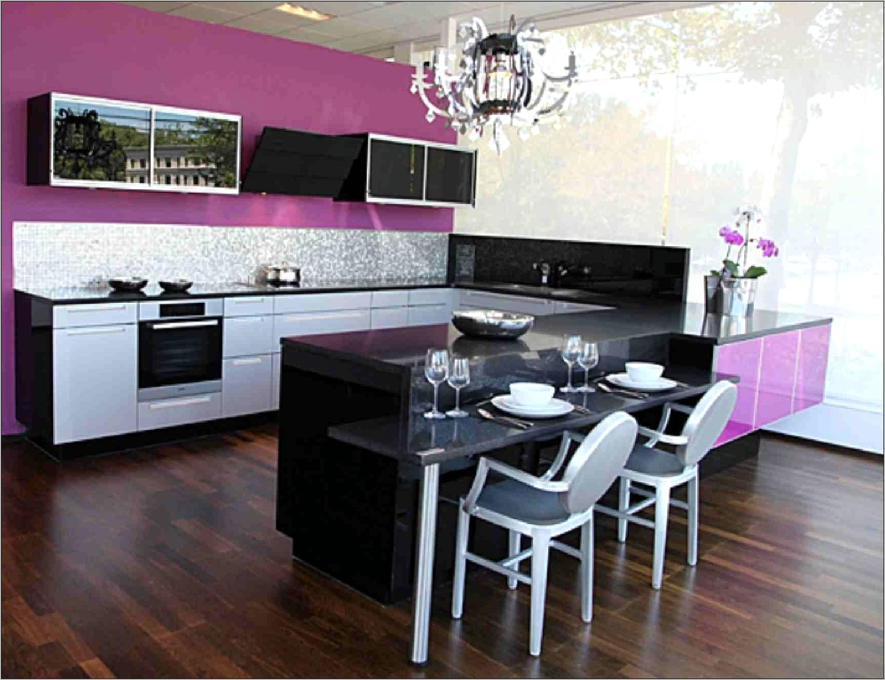 Purple And Black Kitchen Decor