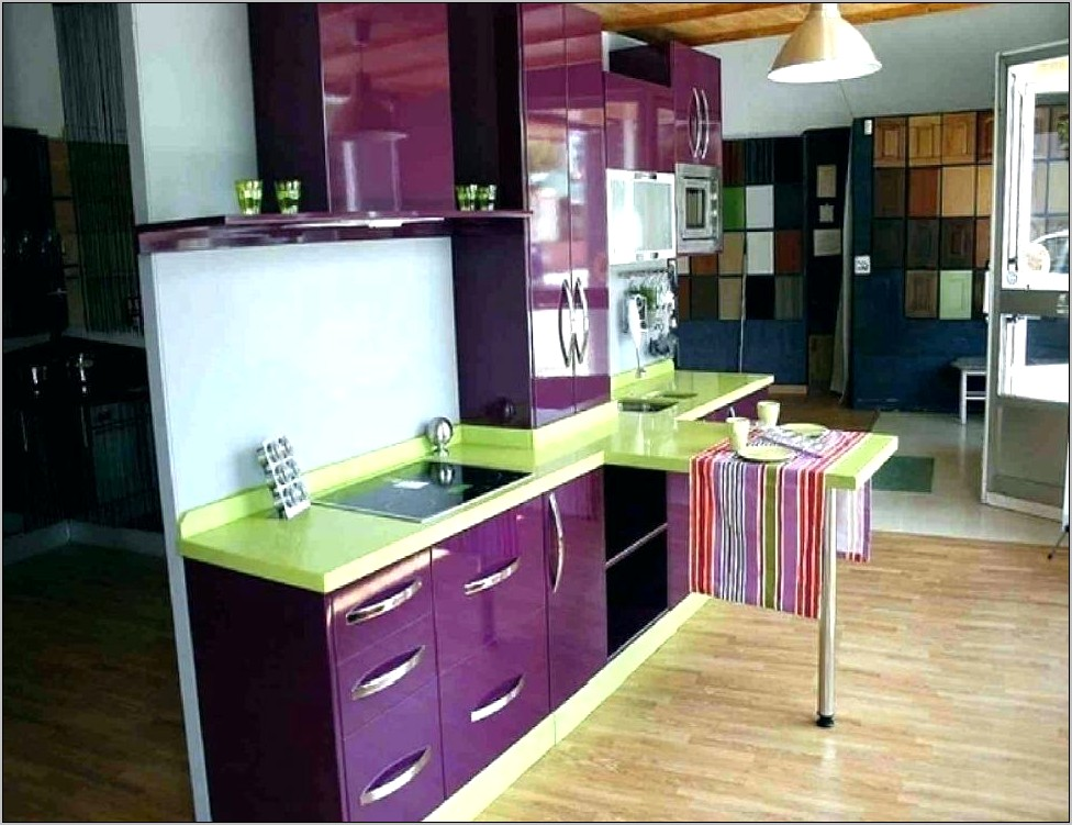 Purple And Green Kitchen Decor