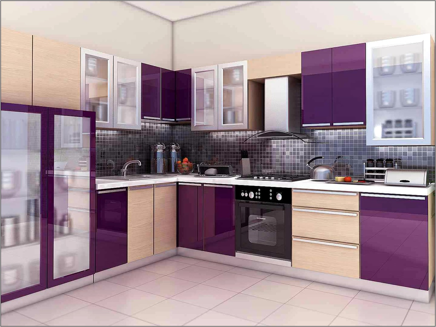 Purple Kitchen Decor Design