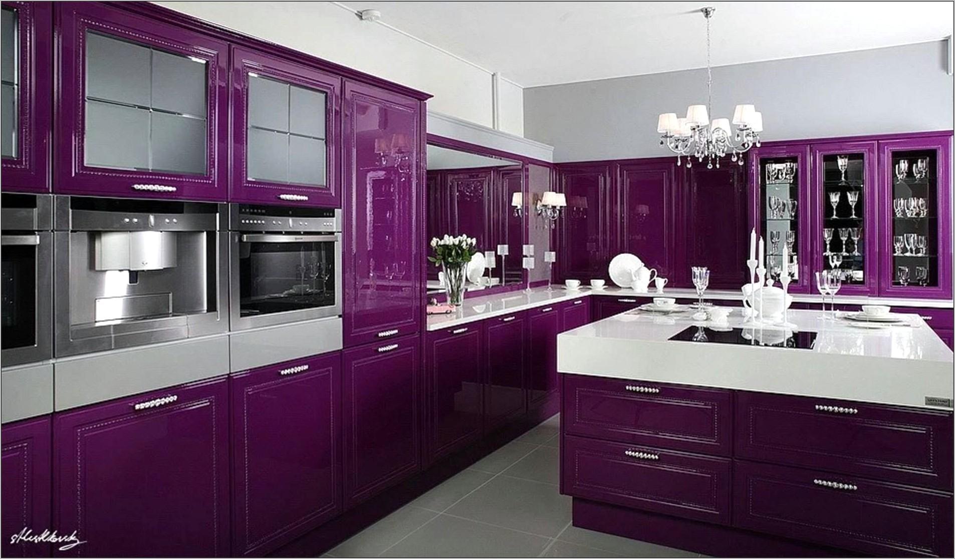 Purple Kitchen Decorating Ideas