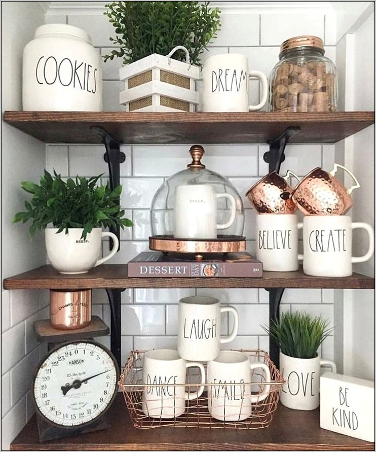 Rae Dunn Farmhouse Kitchen Decorating