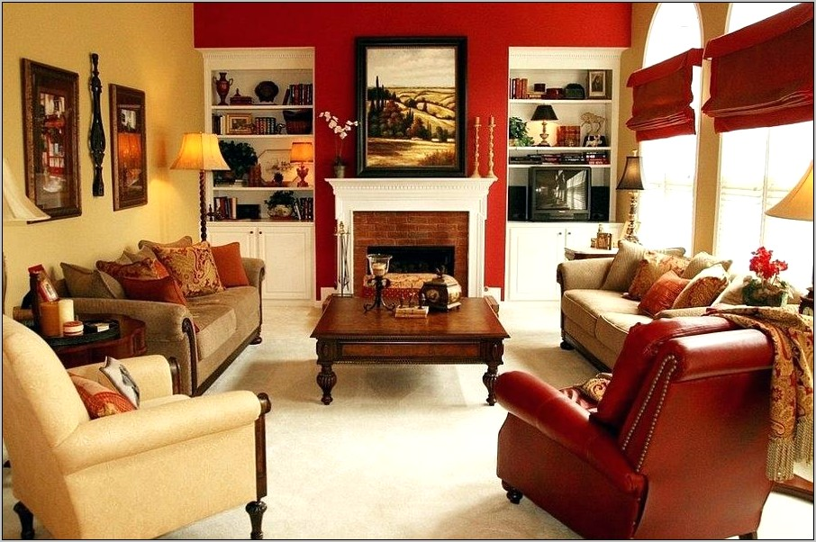 Red Accent Wall In Kitchen Decor