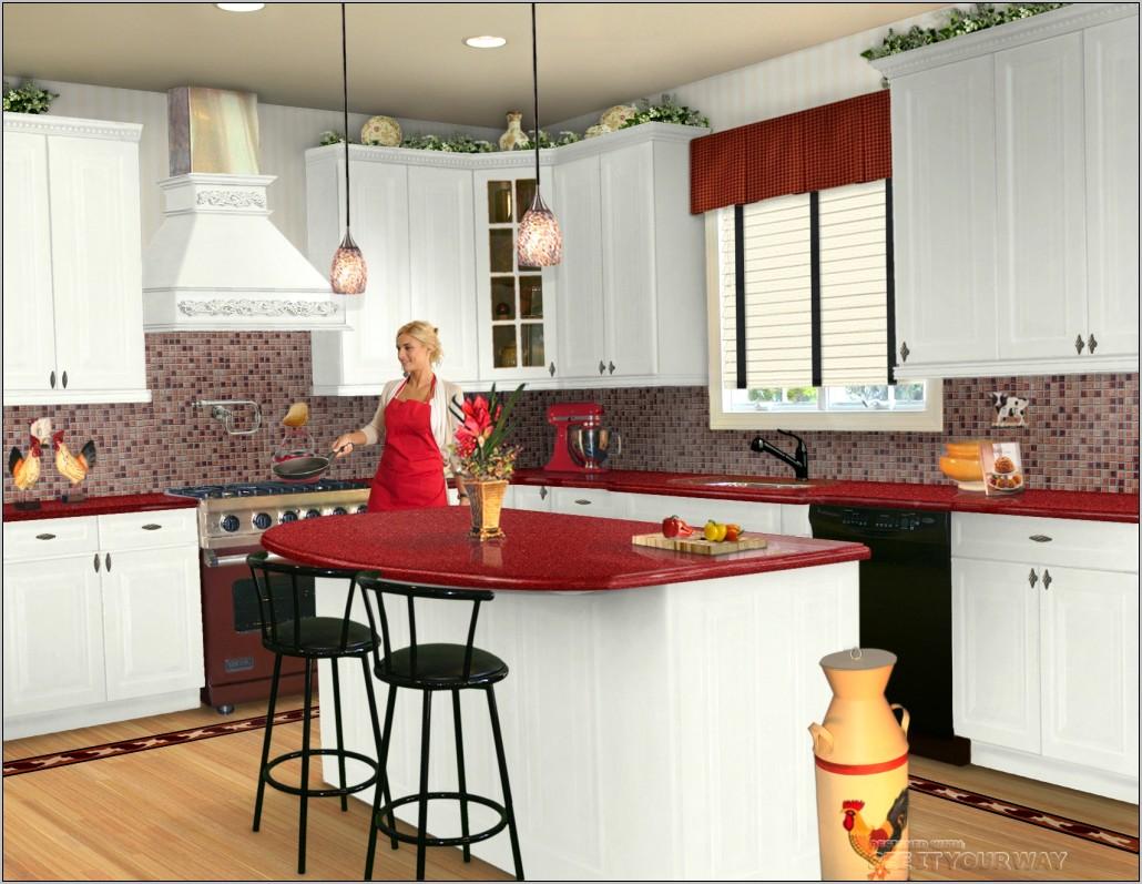 Red And Beige Kitchen Decor