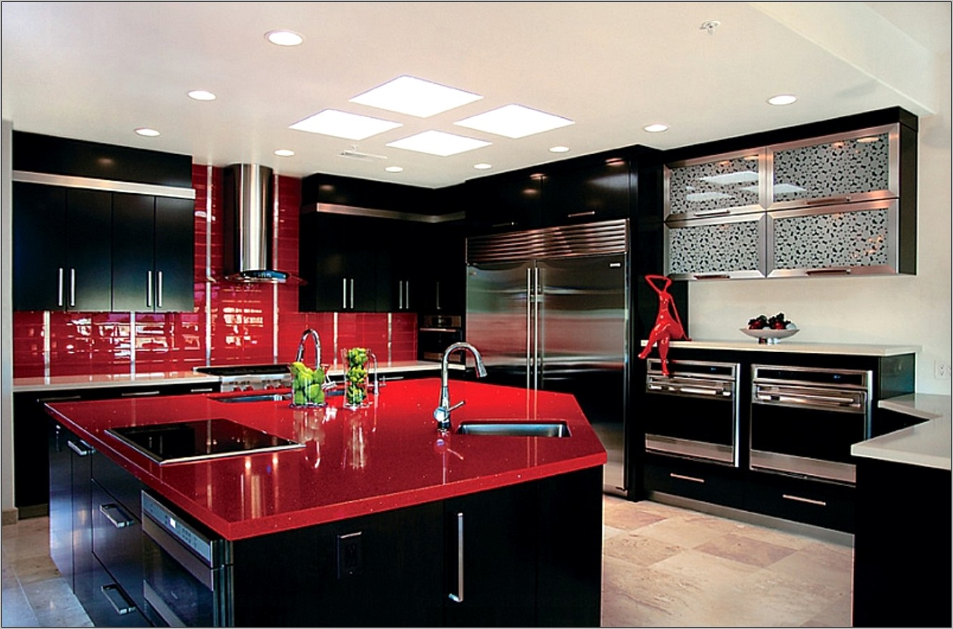 Red And Black Kitchen Wall Decor