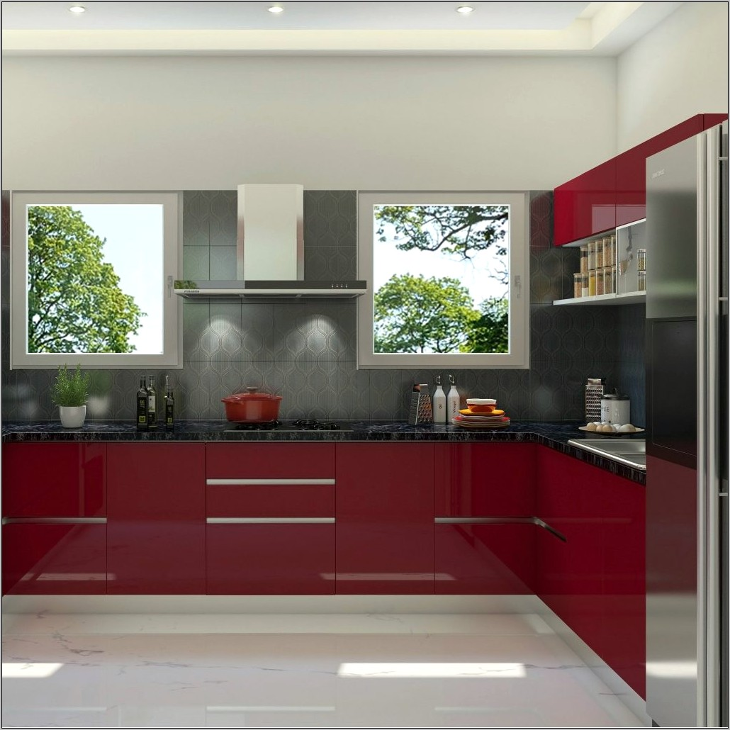 Red And Grey Kitchen Decor
