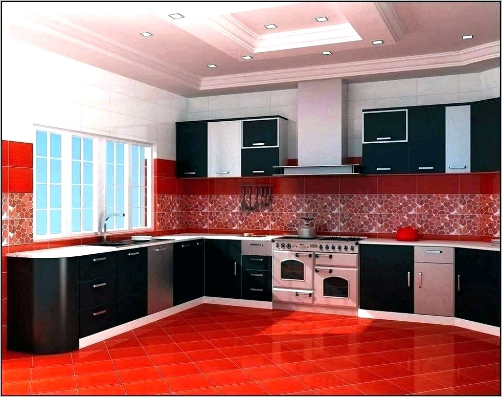 Red And Silver Kitchen Decor
