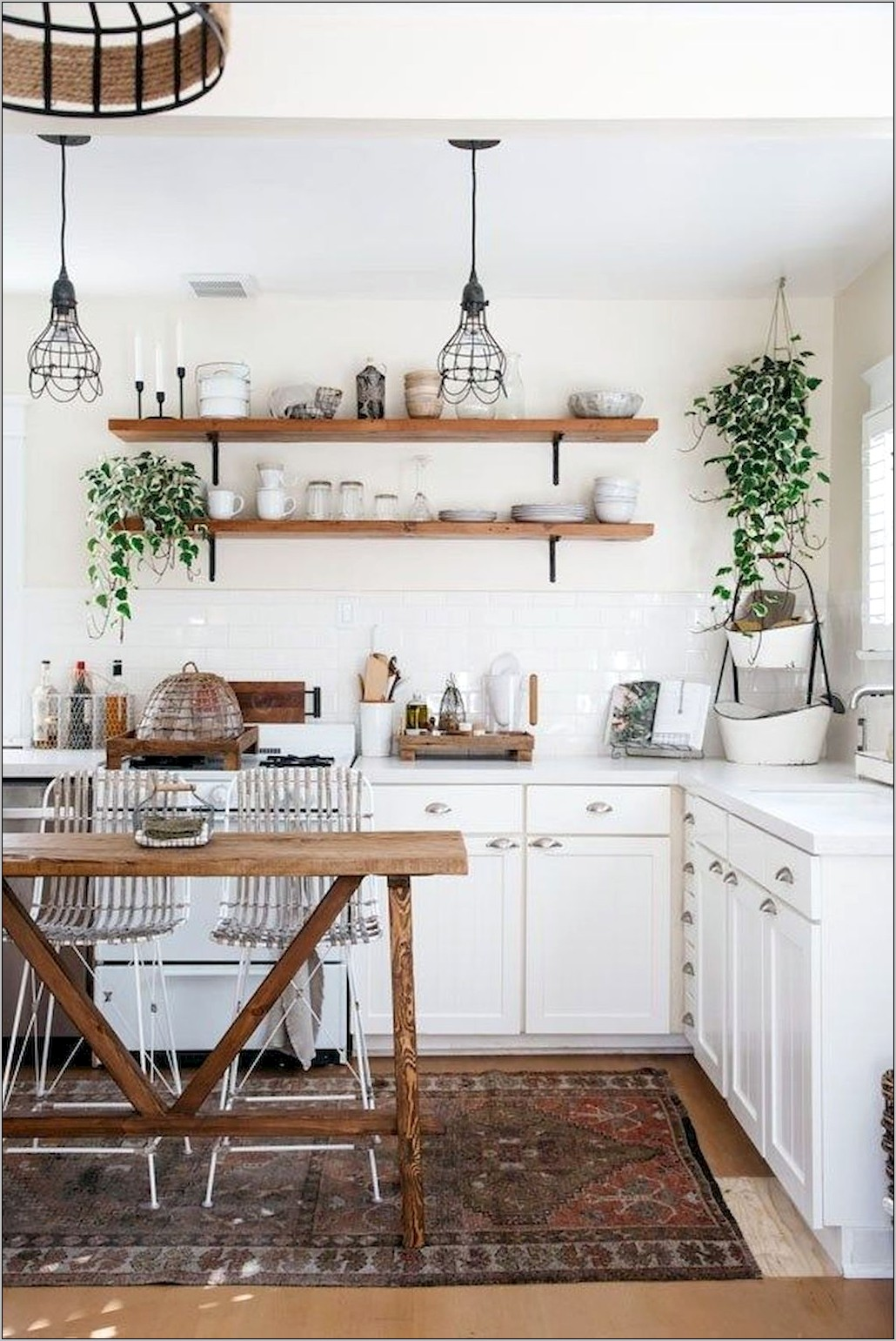 Red French Country Decor Kitchen