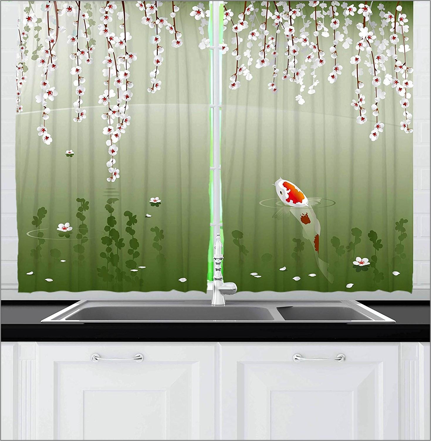 Red Vertical Fish Kitchen Decor