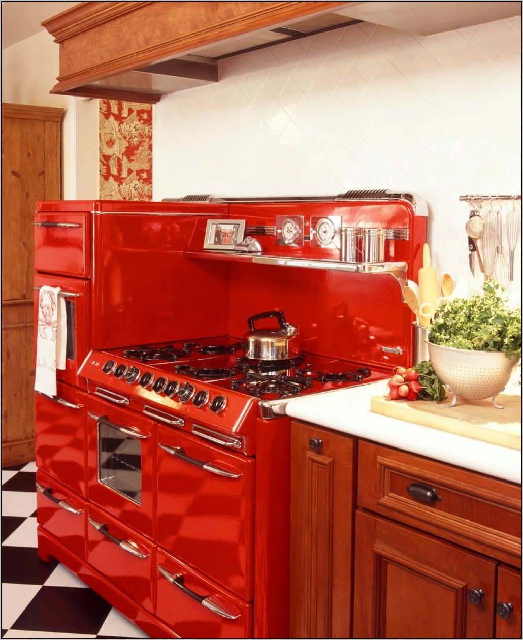 Red Vintage Kitchen Decor