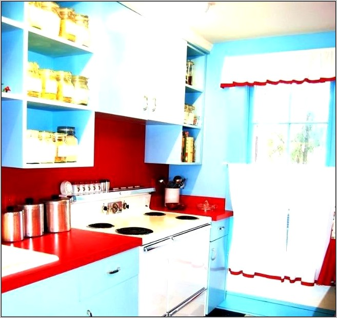 Red White And Blue Kitchen Decor