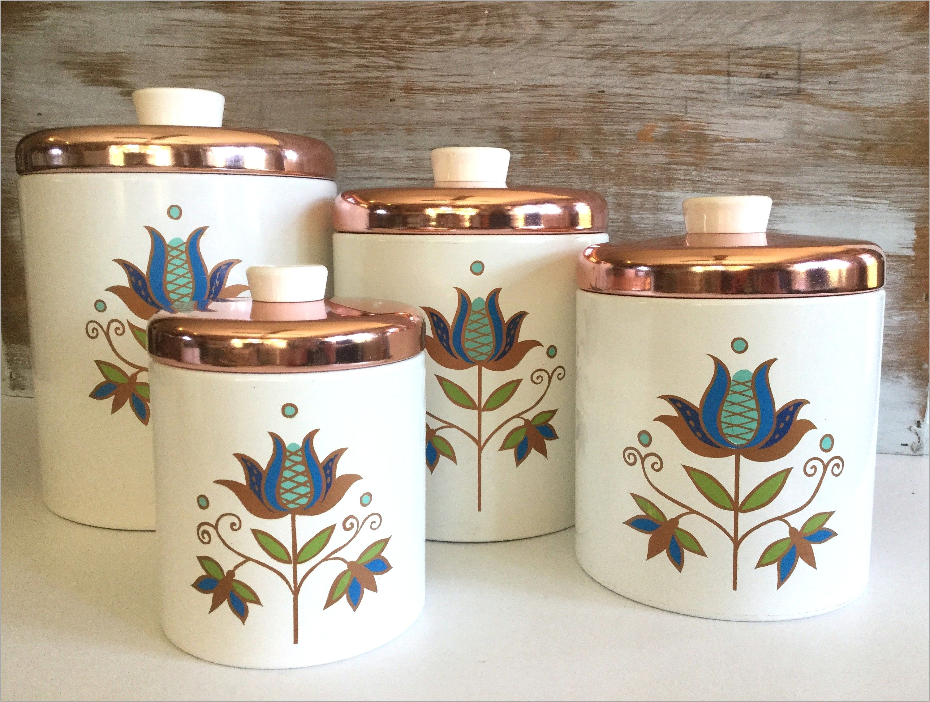 Retro Canisters Kitchen Decor