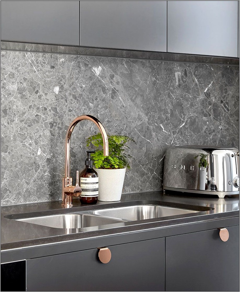 Rose Gold And Grey Decor For Kitchen