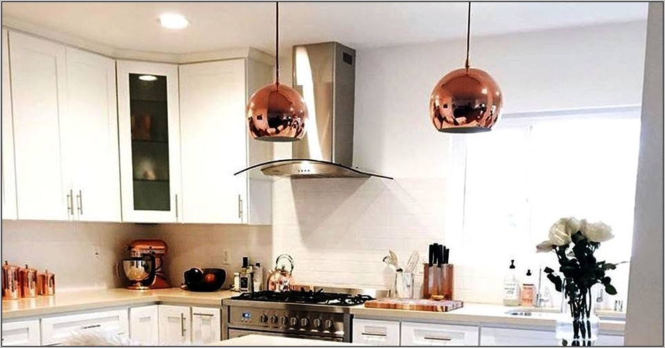 Rose Gold Kitchen Decor