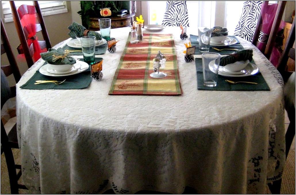 Round Kitchen Table Birthday Decoration