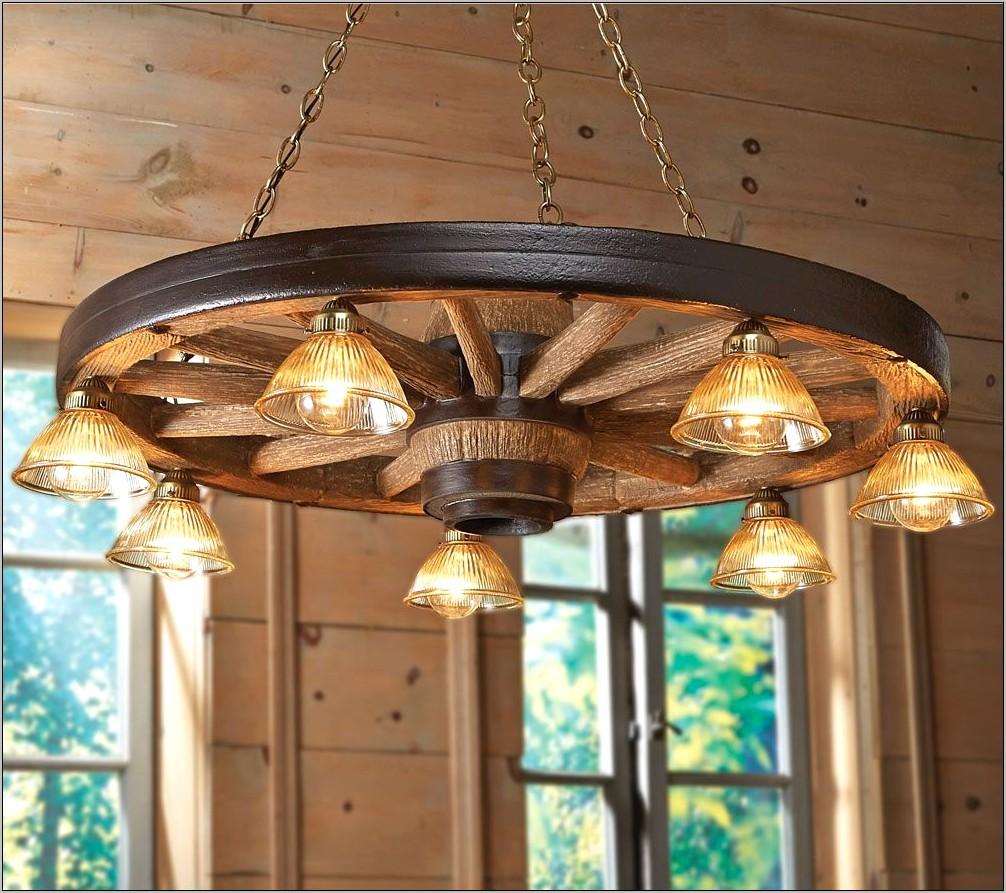 Rustic Cowboy Kitchen Chandelier Decor