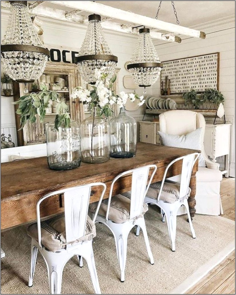 Rustic Dining Farmhouse Kitchen Table Decor Ideas