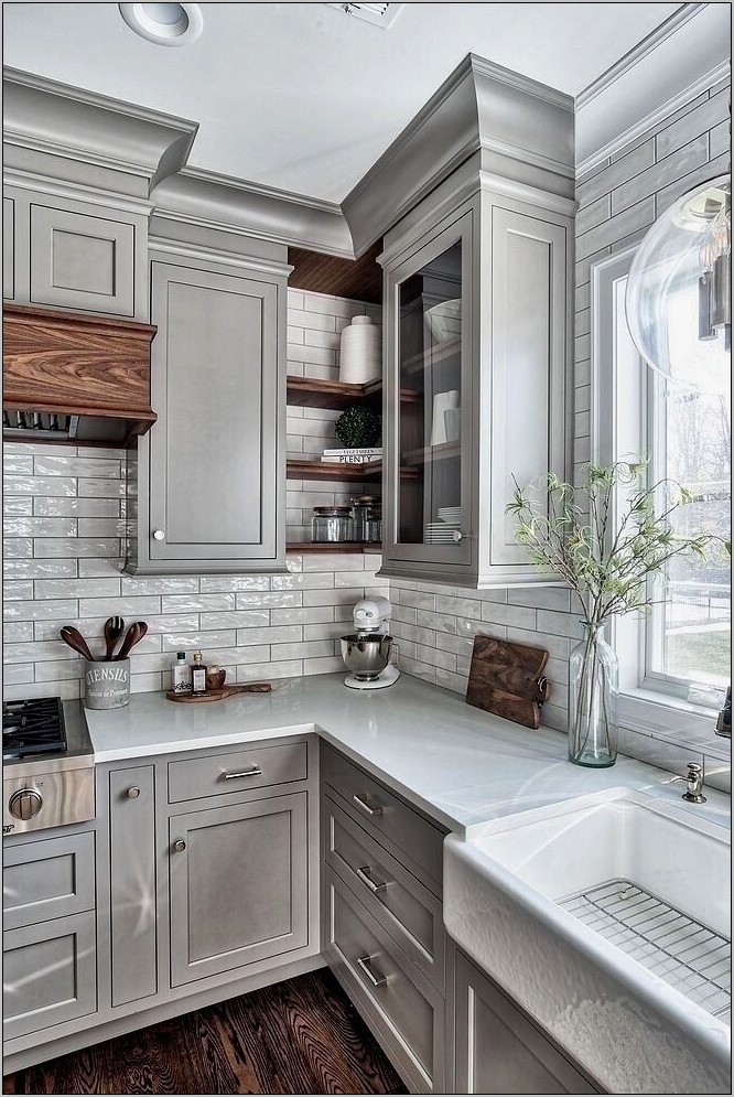 Rustic Grey Decor Kitchens And Bathrooms