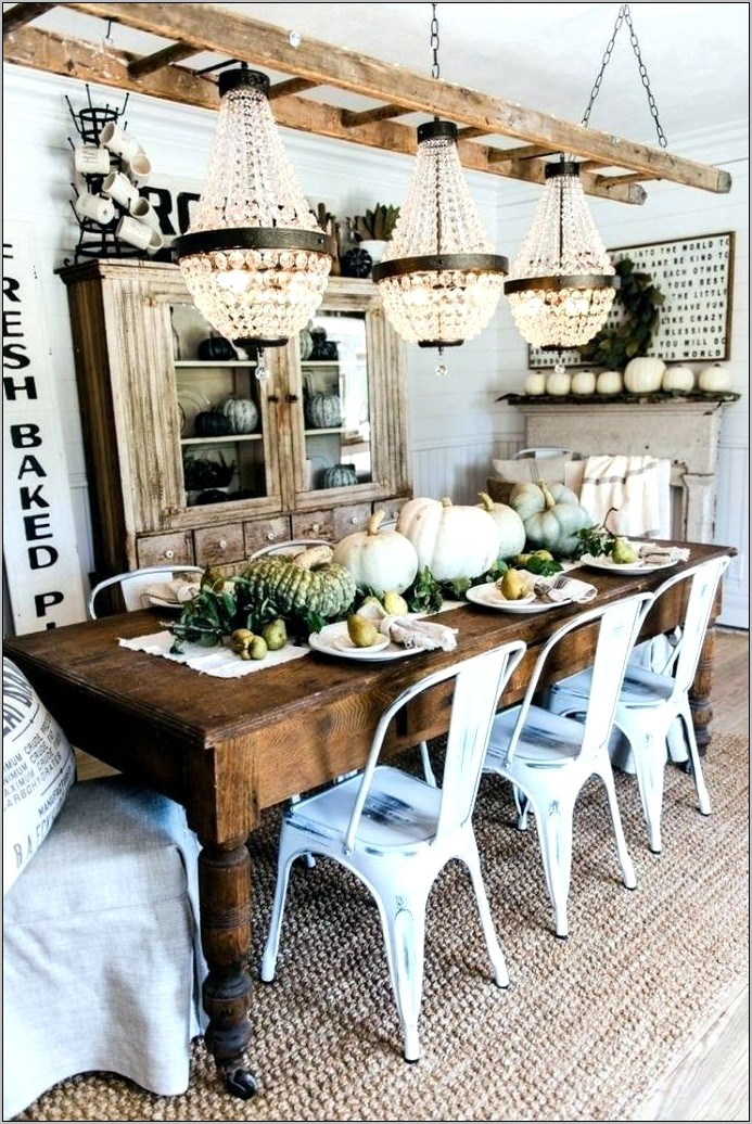 Rustic Kitchen Table Decorations