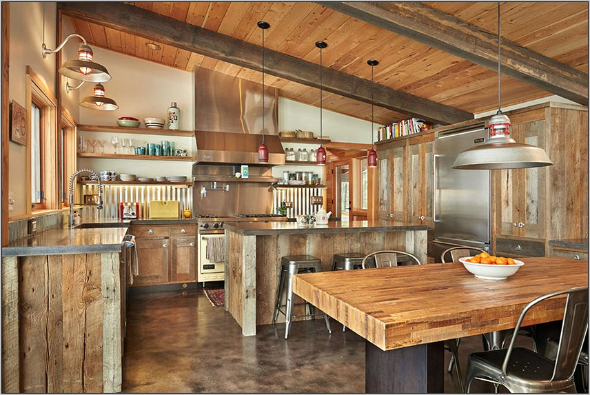 Rustic Kitchen Western With Tin Decor