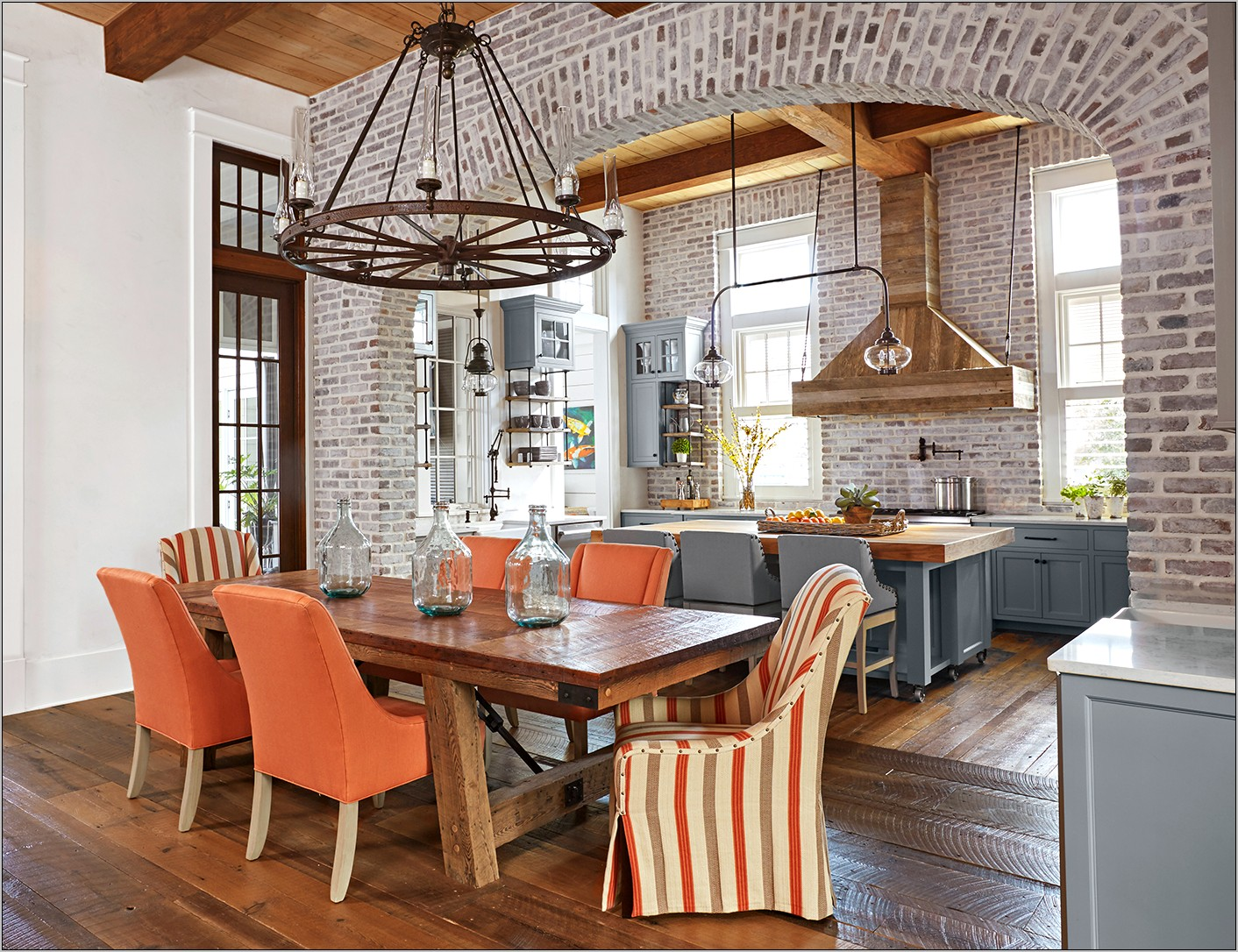 Sage Green And Rusted Orange Kitchen Decor