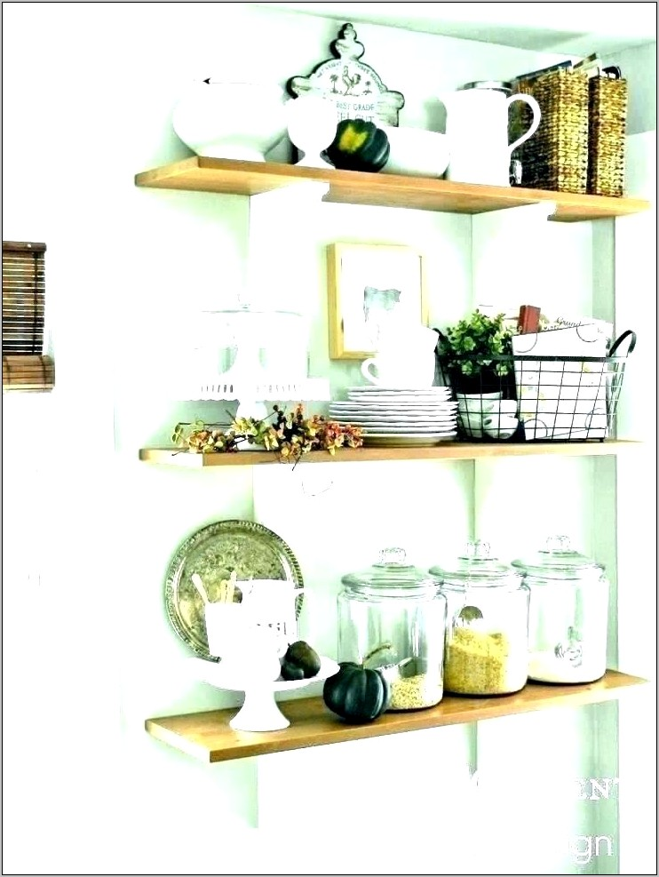 Shelf Decorating Ideas For Kitchen