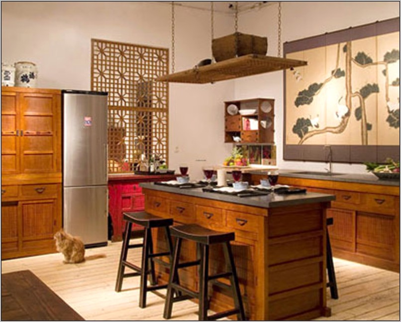Simple Small Kitchen Asian Decor