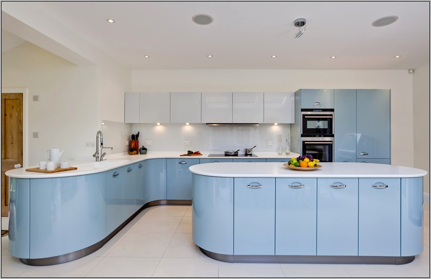 Sky Blue Kitchen Decor