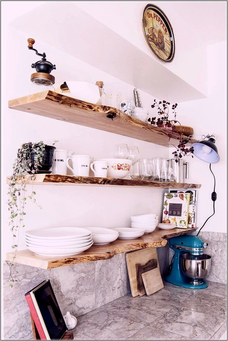 Small Decorative Kitchen Shelves