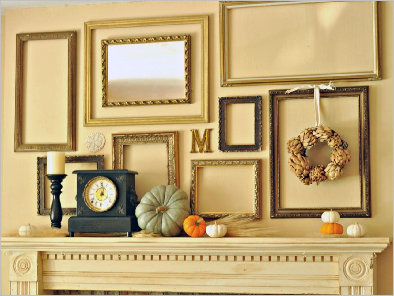 Small Kitchen Mantel Decorating Ideas