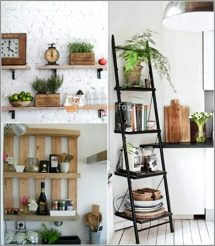 Small Kitchen Shelf Decor