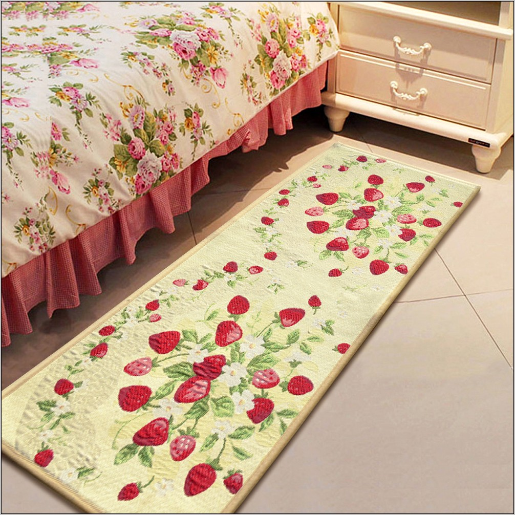 Strawberry Kitchen Decor Rugs