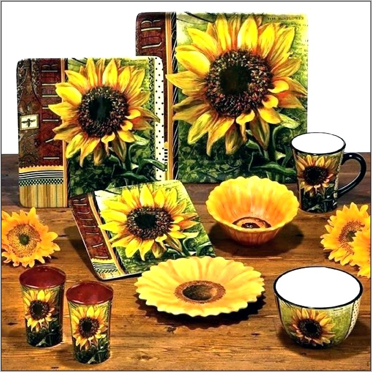 Sunflower Kitchen Decor Sets