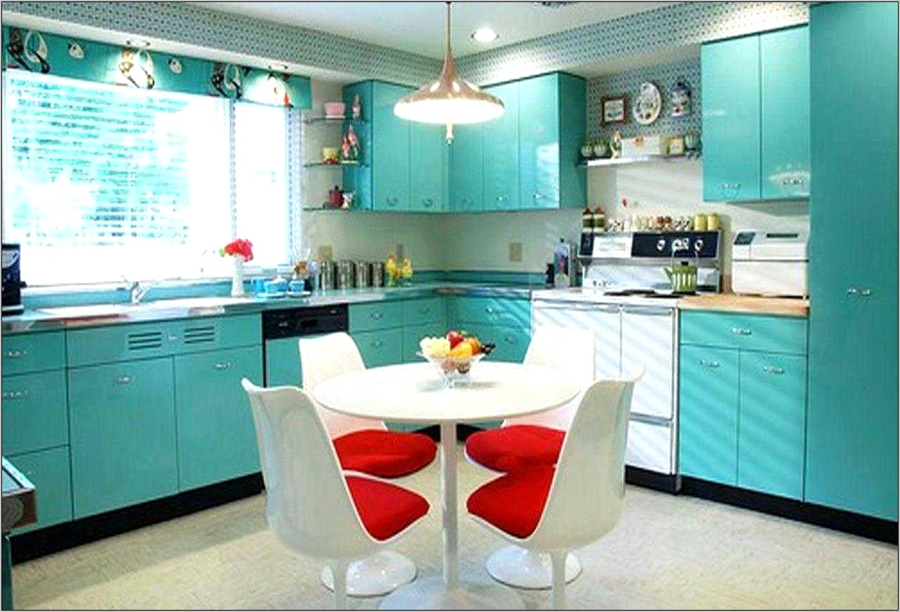Teal And Coral Kitchen Decor