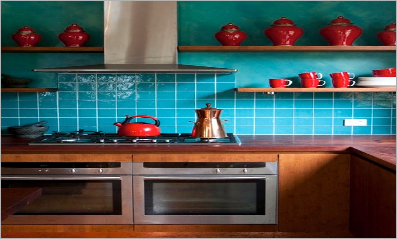 Teal And Red Kitchen Decor Ideas