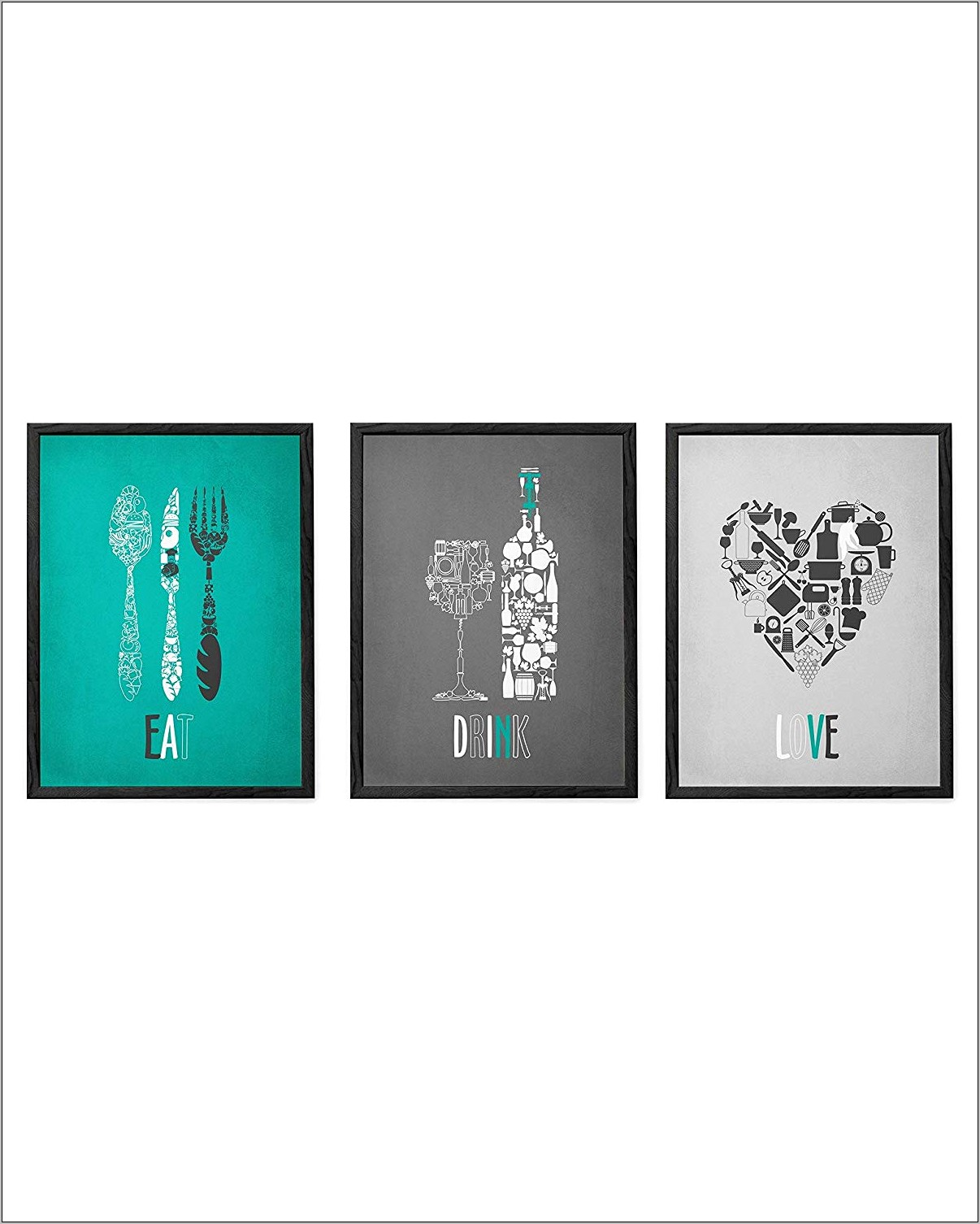 Teal Kitchen Wall Decor
