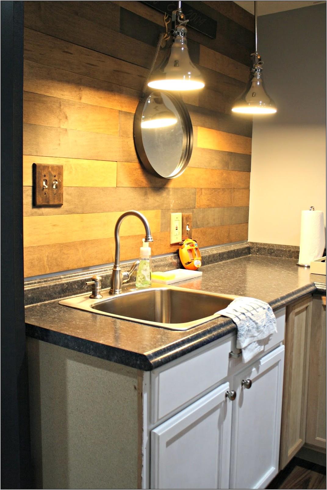 Thrifty Chic Decor Basement Kitchen