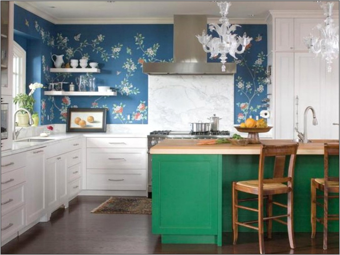 Turquoise And Black Kitchen Decor