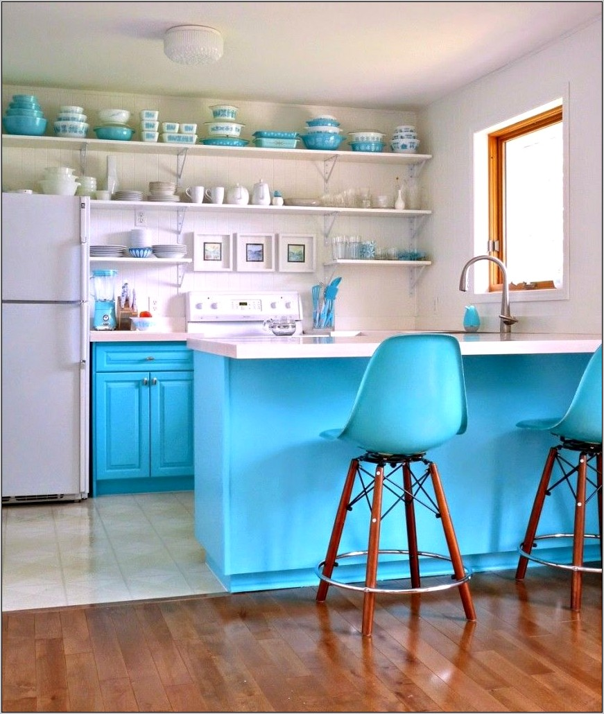Turquoise And Grey Kitchen Decor