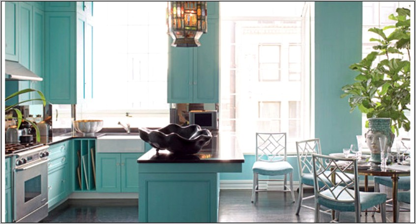 Turquoise Kitchen Photo Decor