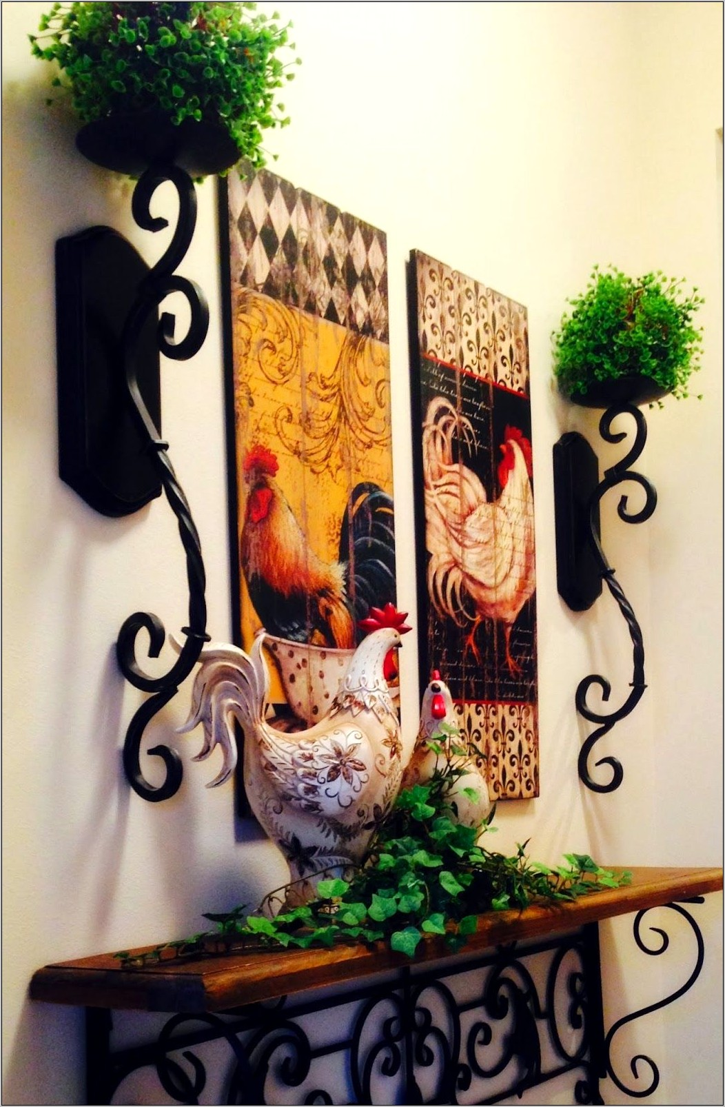 Tuscan Rooster Kitchen Decor