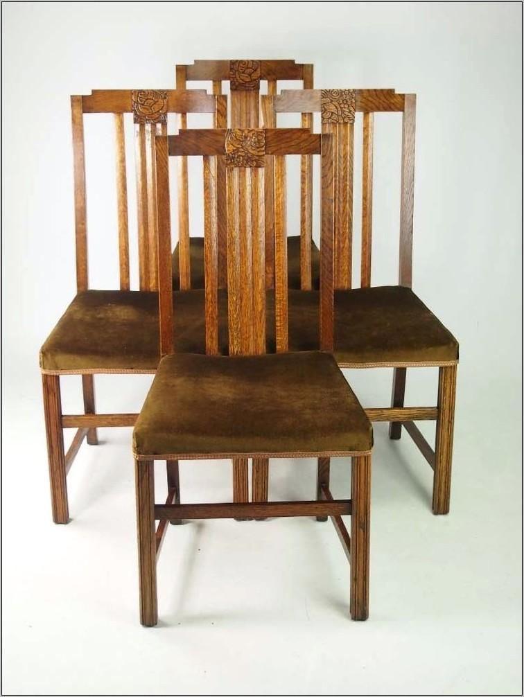 Vingage Art Decor Oak Kitchen Chair