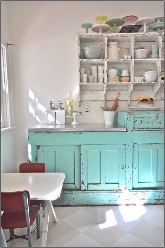 Vintage Aqua Kitchen Decor