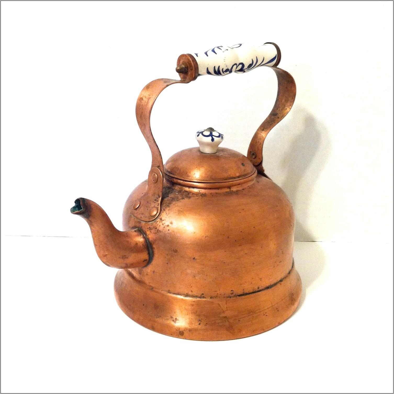 Vintage Copper Teapot Decoration At Kitchen