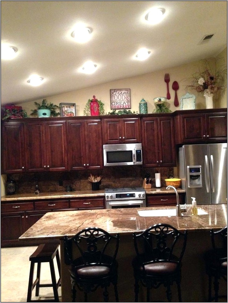 Wall Decor Above Kitchen Cabinets