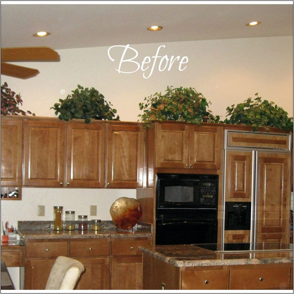 Ways To Decorate Top Of Kitchen Cabinets