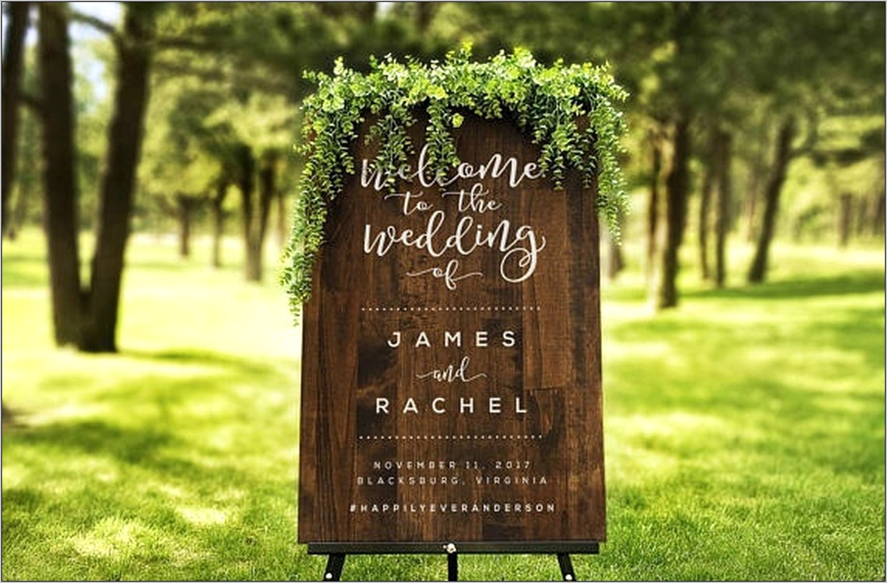 Wedding Welcome Sign In Kitchen Decor