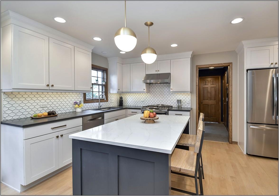 White Kitchen Cabinets Decorative Soffit